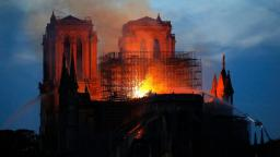 Notre Dame Cathedral Hit by Massive Fire