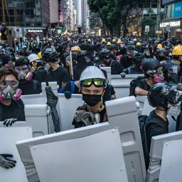 Hong Kong Protests Erupt During China National Day